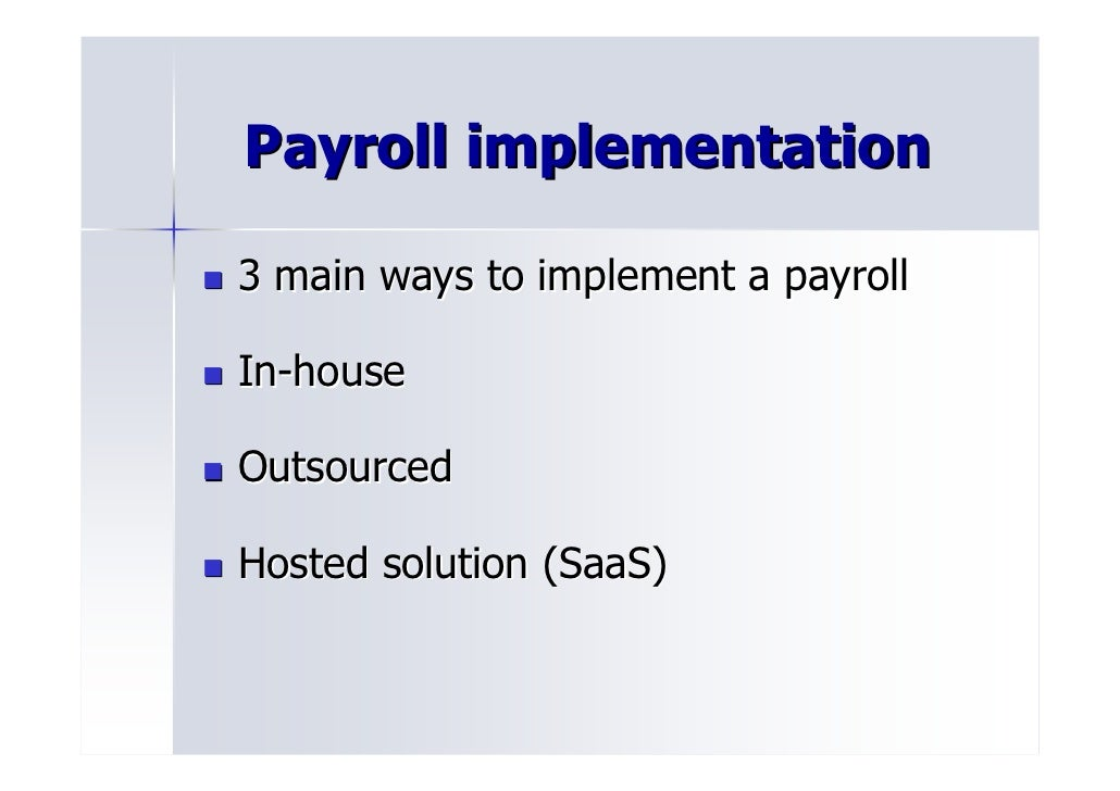 Payroll Department