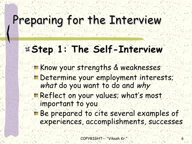 example of weaknesses for job interview