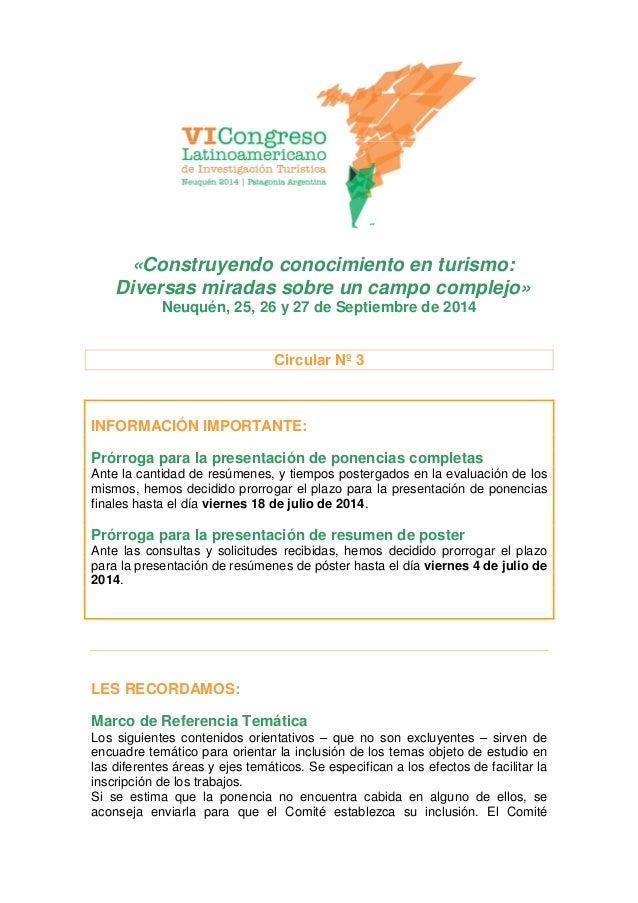 «Construyendo conocimiento en turismo: Diversas miradas sobre un campo complejo» Neuquén, 25, 26 y 27 de Septiembre de 201...