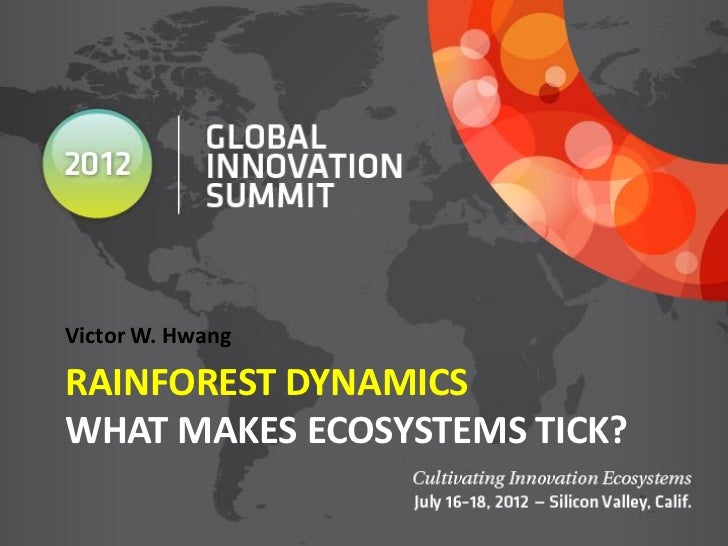 Victor W. HwangRAINFOREST DYNAMICSWHAT MAKES ECOSYSTEMS TICK?