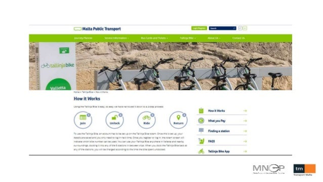 From analyzing to replicating car and bike sharing - Transport Malta