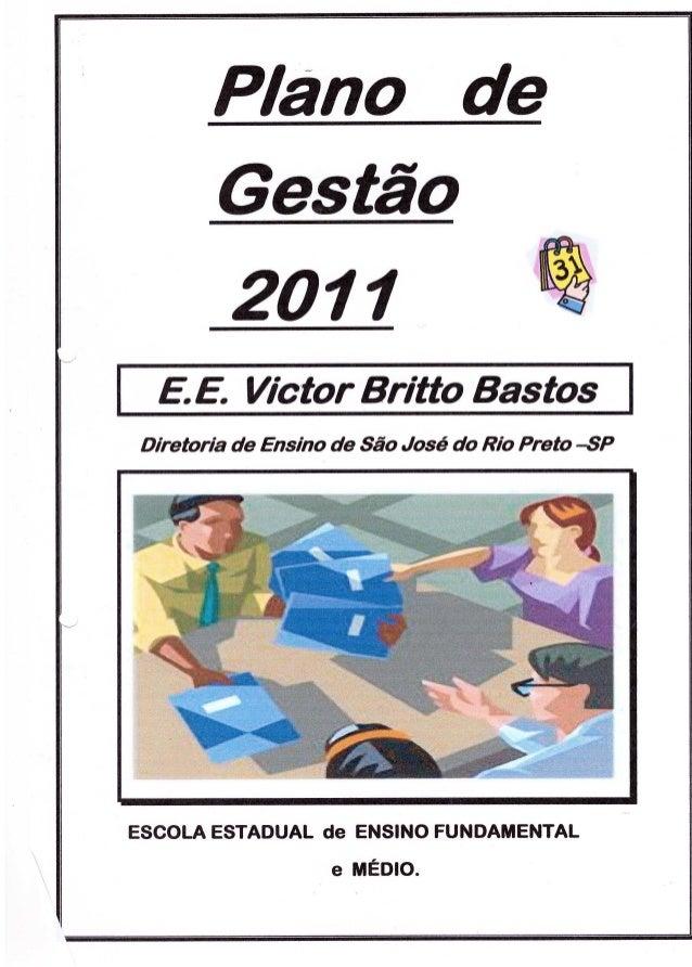 Plano Gestão EE Victor B Bastos