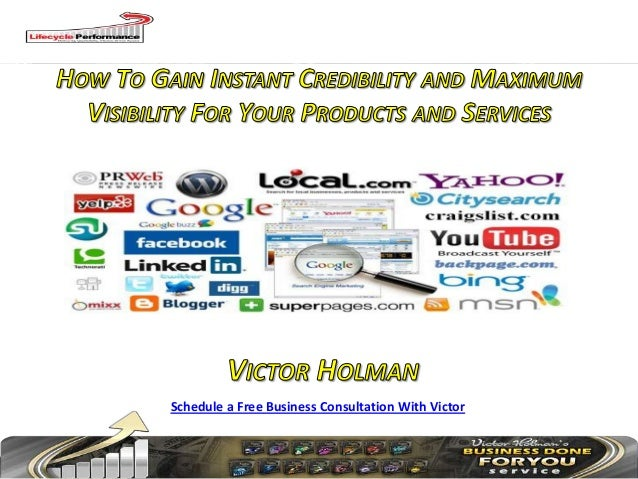 Schedule a Free Business Consultation With Victor
