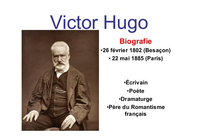 Biographie De Victor Hugo Schéma Conceptuel