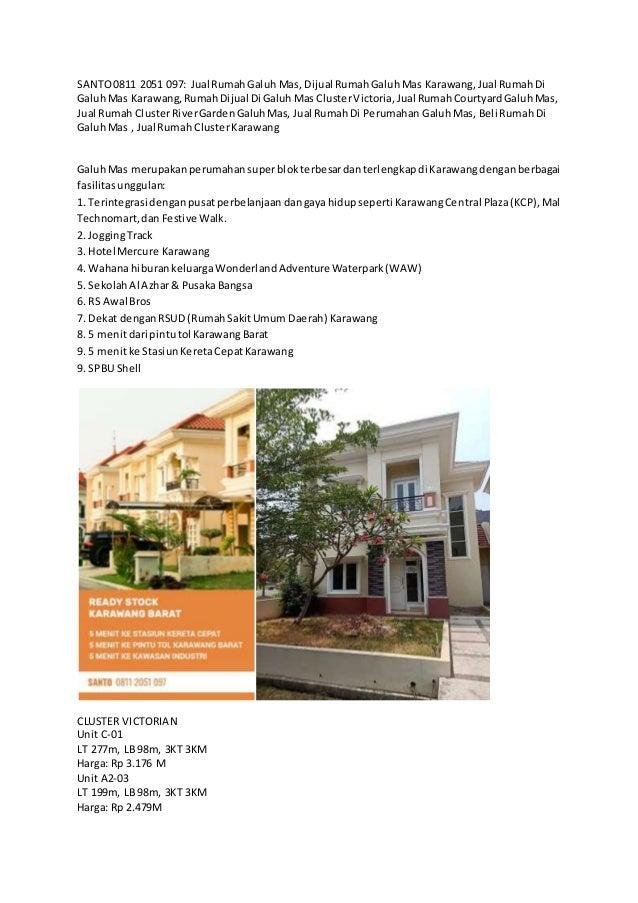 SANTO0811 2051 097: Jual RumahGaluh Mas, Dijual RumahGaluhMas Karawang,Jual RumahDi GaluhMas Karawang,RumahDijual Di Galuh...
