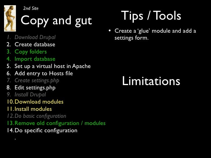 2nd Site       Copy and gut                            Tips / Tools                                        •   Create a 'g...