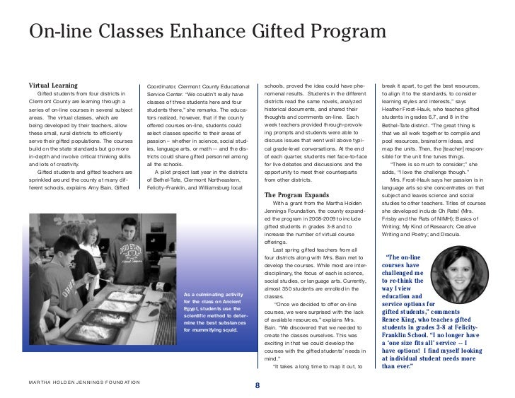 8 On Line Cl Enhance Gifted