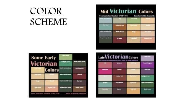 victorian interior design colour schemes