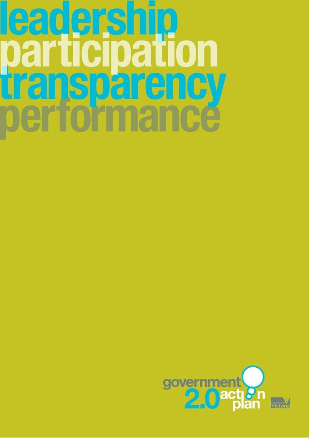 leadership performance transparency participation