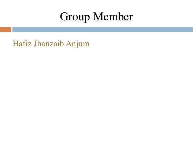 Hafiz Jhanzaib Anjum Group Member