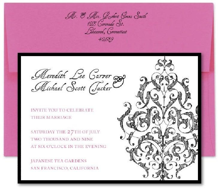 Victorian Lace - Wedding Invitation