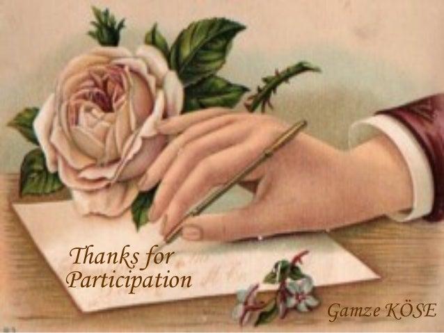 Thanks for Participation Gamze KÖSE