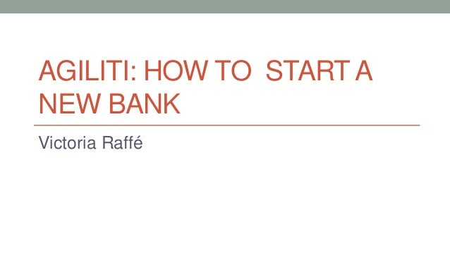 "Victoria Raffe @ ""How to Start a New Bank"" Seminar"