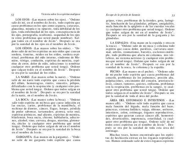 54  Victoria sobre los espíritus malignos  de grupos de brujas de mujeres y grupos de brujos de hombres. EXTREMIDADES (BRA...