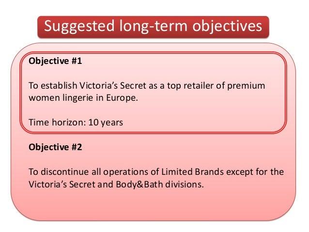 victoria secret business objectives