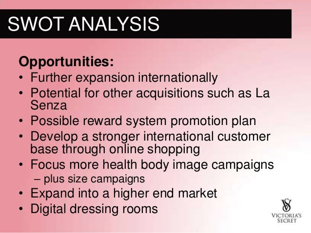 victorias secret marketing analysis Victoria's secret's target market is the middle class woman, or a man shopping for a middle class woman victoria's secret pink line, however, often attracts people slightly outside of that market, such as the younger, college age woman.