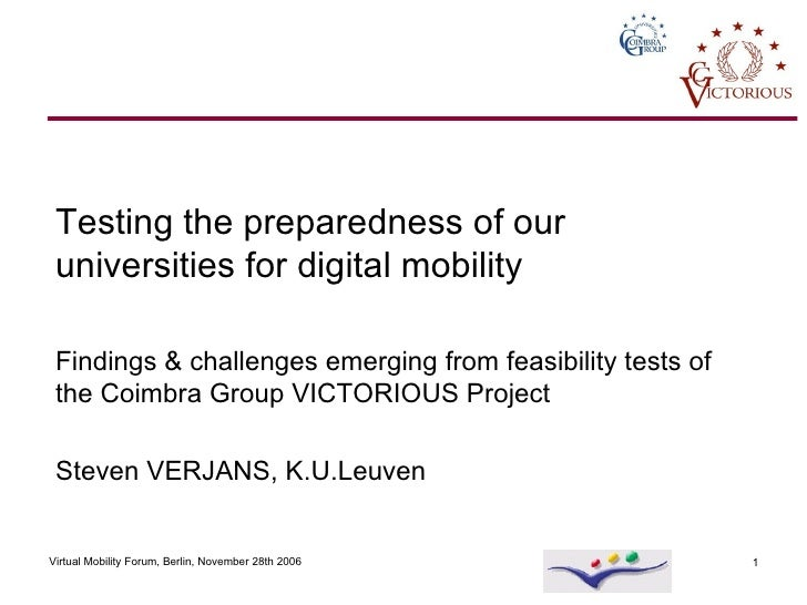 Testing the preparedness of our universities for digital mobility   Findings & challenges emerging from feasibility tests ...