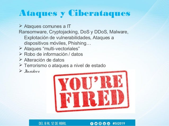  Ataques comunes a IT Ransomware, Cryptojacking, DoS y DDoS, Malware, Explotación de vulnerabilidades, Ataques a disposit...