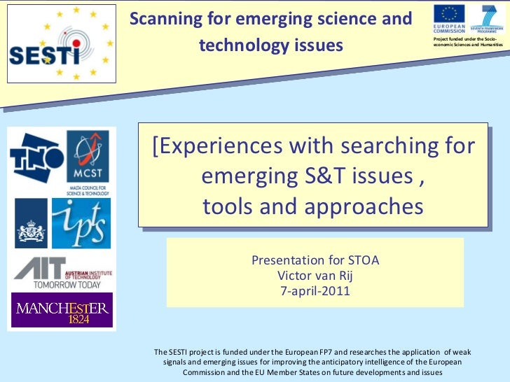 Scanning for emerging science and        technology issues                                                                ...