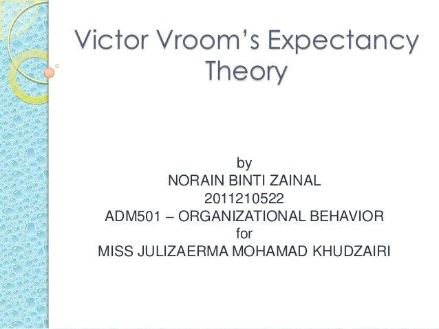 vroom expectancy