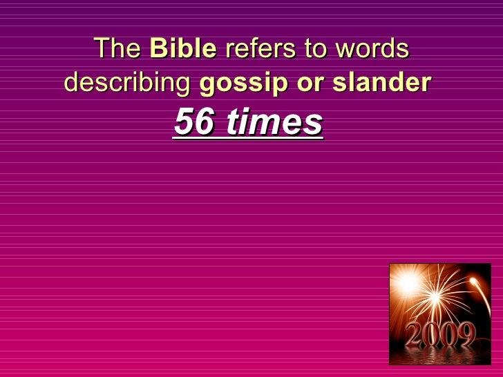 Victory Over Gossip, Part 1
