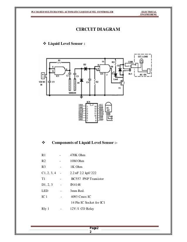 PLC based Multichannel Automatic Liquid Level Controller