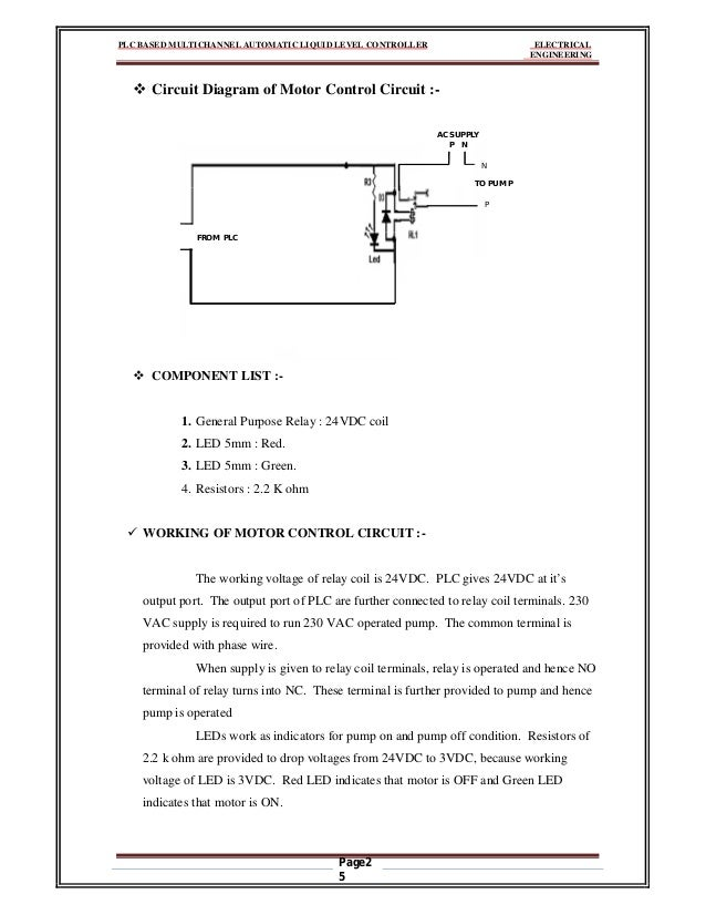 plc based multichannel automatic liquid level controller plc based multichannel automatic liquid level controller electrical engineering page2 4 motor control circuit 25
