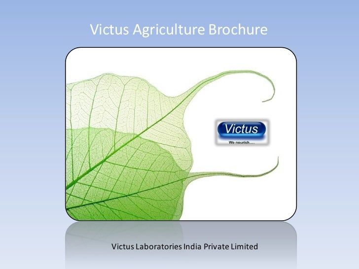 Victus Agriculture Brochure   Victus Laboratories India Private Limited