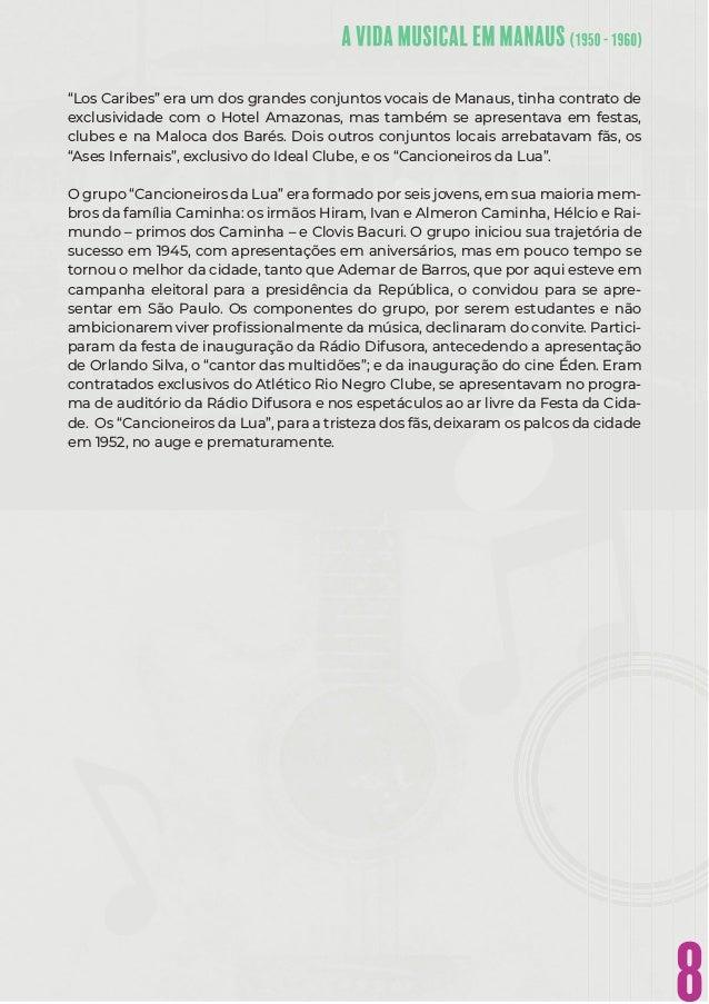 """8 """"Los Caribes"""" era um dos grandes conjuntos vocais de Manaus, tinha contrato de exclusividade com o Hotel Amazonas, mas t..."""