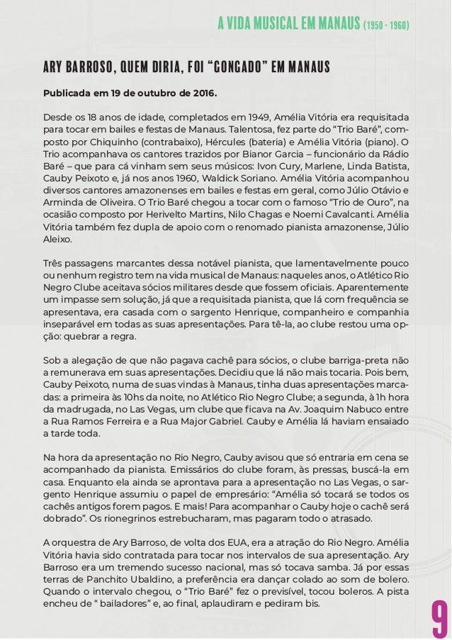 """9 ARY BARROSO, QUEM DIRIA, FOI """"GONGADO"""" EM MANAUS Publicada em 19 de outubro de 2016. Desde os 18 anos de idade, completa..."""