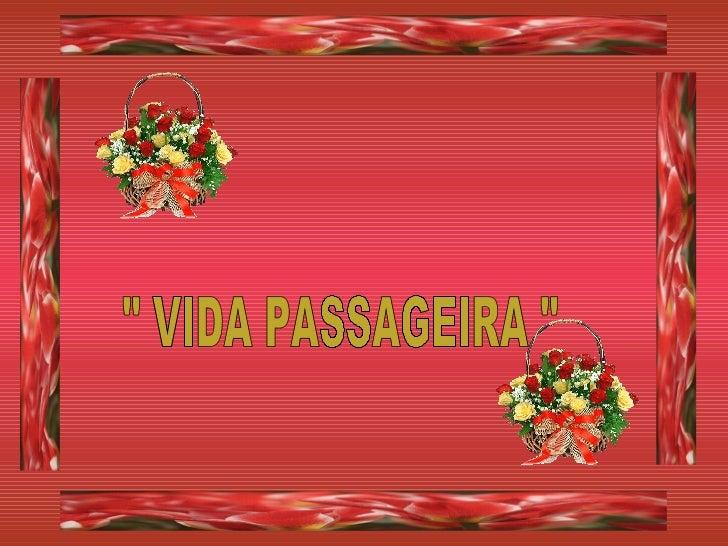 """ VIDA PASSAGEIRA """