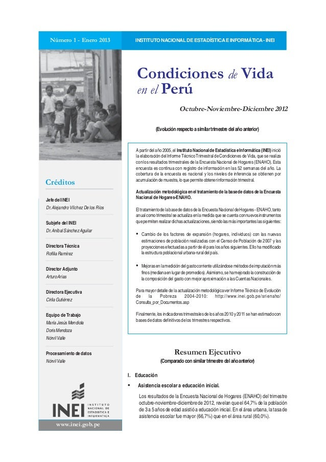 www.inei.gob.pe Jefe del INEI Dr.Alejandro Vílchez De los Ríos Subjefe del INEI Dr.Aníbal SánchezAguilar Directora Técnica...