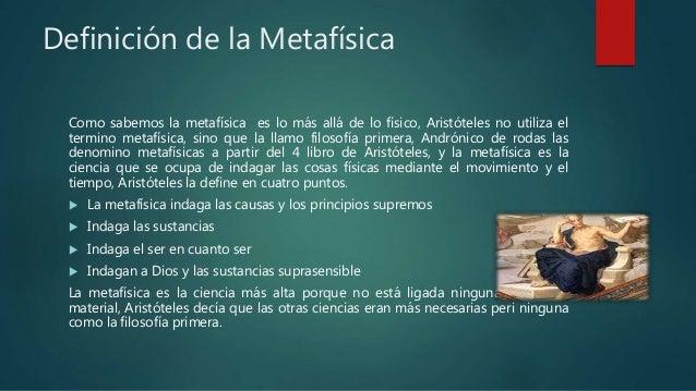 VIDA DE ARISTOTELES Y METAFÍSICA  Slide 3