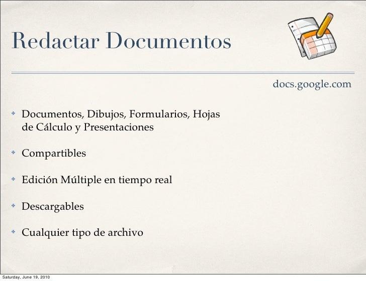 Redactar Documentos                                                    docs.google.com      ✤    Documentos, Dibujos, Form...