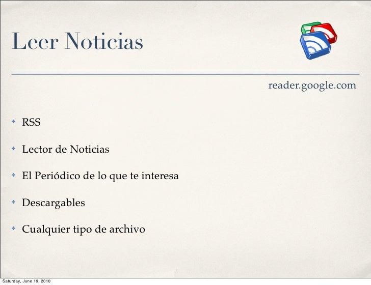 Leer Noticias                                               reader.google.com       ✤    RSS      ✤    Lector de Noticias ...