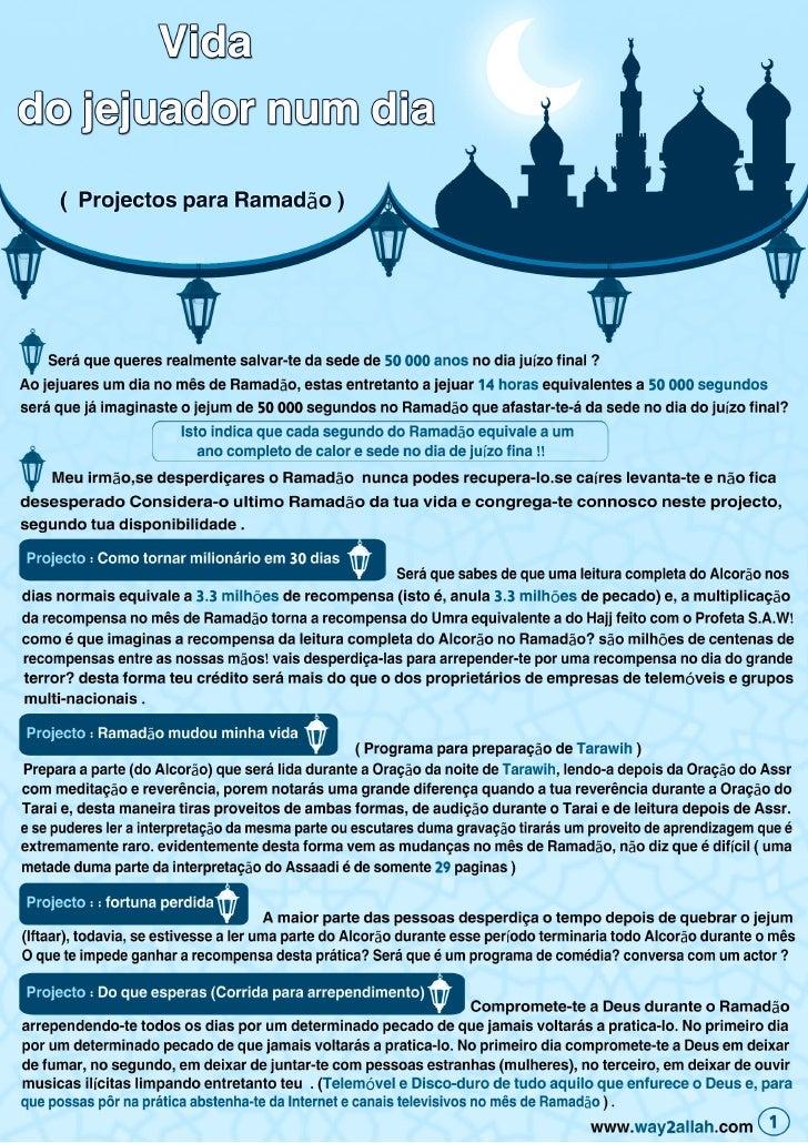 Vida Do Jejuador Num Dia   Portuguese