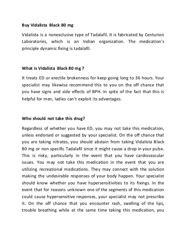 Vidalista Black 80 Mg