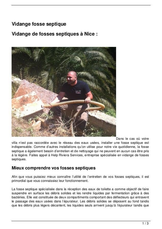 Vidange fosse septiqueVidange de fosses septiques à Nice :                                                                ...
