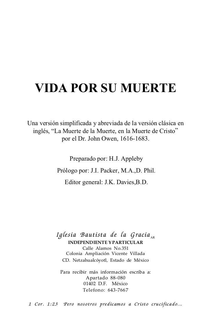 """VIDA POR SU MUERTEUna versión simplificada y abreviada de la versión clásica en inglés, """"La Muerte de la Muerte, en la Mue..."""
