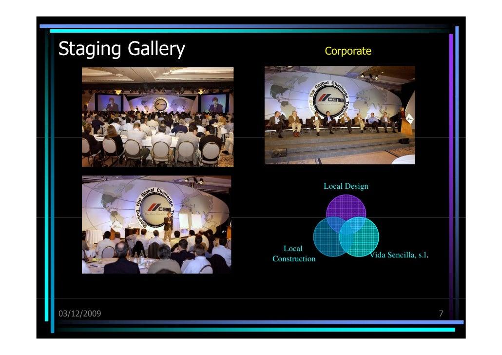 Staging Gallery 03/12/09 Corporate Local Design Vida Sencilla, s.l . Local Construction