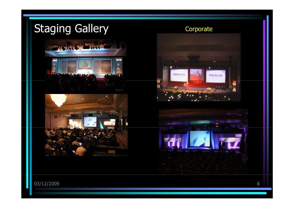 Staging Gallery <ul><li>Corporate </li></ul>03/12/09