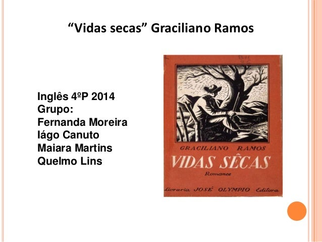 """""""Vidas secas"""" Graciliano Ramos Inglês 4ºP 2014 Grupo: Fernanda Moreira Iágo Canuto Maiara Martins Quelmo Lins"""