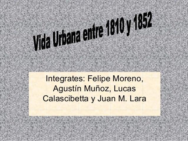 Integrates: Felipe Moreno, Agustín Muñoz, Lucas Calascibetta y Juan M. Lara
