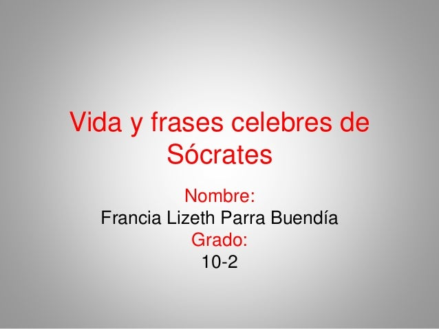 Vida Y Frases De Socrates