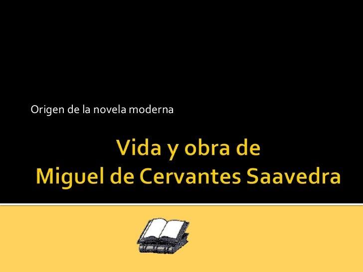 Origen de la novela moderna
