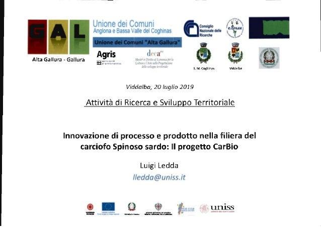 Innovazione di processo e prodotto nella filiera del carciofo spinoso sardo (Luigi Ledda)