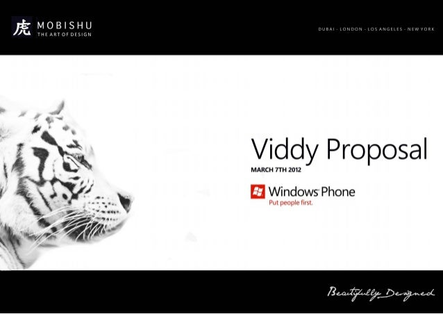 Viddy Proposition - WP port