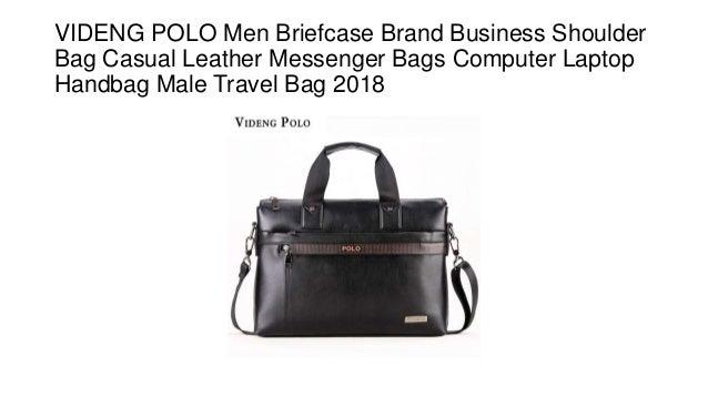 782ffd53326e VIDENG POLO Men Briefcase Brand Business Shoulder Bag Casual Leather  Messenger Bags Computer Laptop Handbag Male ...