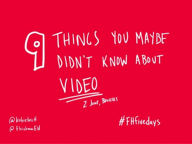 Nine things you maybe didn't know about (social) video