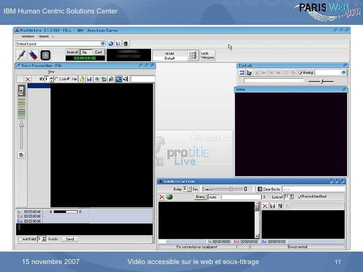 Le logiciel Protitle et ses différentes fenêtres